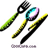 Vector Clipart image  of a Utensil Sets