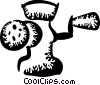 Vector Clipart image  of a Meat Grinders