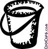 Vector Clip Art picture  of a Mops and Pails