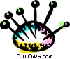 Vector Clipart image  of a Pin Cushions