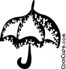 Vector Clipart picture  of a Umbrellas