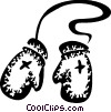 Vector Clipart illustration  of a Mittens