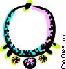 Vector Clipart graphic  of a Necklace