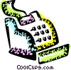 Vector Clip Art picture  of a Cash Register