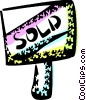 Vector Clipart graphic  of a Real Estate