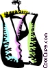 Vector Clip Art image  of a Clothes Hangers