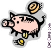 Vector Clipart graphic  of a Piggy Banks