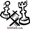 Vector Clipart graphic  of a Chess
