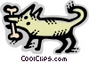 Vector Clipart picture  of a Misc Dogs