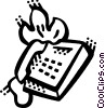 Vector Clip Art image  of a Office Phones