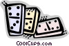 Vector Clipart image  of a Dominos