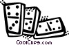 Vector Clipart illustration  of a Dominos