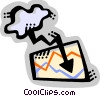 Vector Clip Art graphic  of a Charts