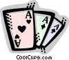 Vector Clip Art image  of a Playing Cards