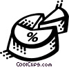 Vector Clipart illustration  of a Charts
