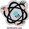 Vector Clip Art image  of an Atoms