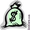 Vector Clipart graphic  of a Money Bags