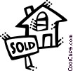 Vector Clipart illustration  of a Real Estate