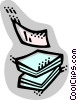 Vector Clip Art image  of a Documents
