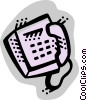Office Phones Vector Clip Art graphic
