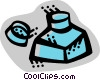 Vector Clipart graphic  of a Ink Bottles