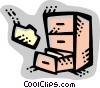 Vector Clip Art graphic  of a Filing Cabinets