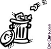 Vector Clipart graphic  of a Garbage Waste Trash