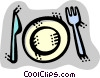 Place Settings Vector Clipart illustration