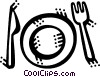 Vector Clip Art image  of a Place Settings