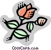 Vector Clip Art graphic  of a Roses