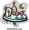 Vector Clip Art image  of a Restaurant scenes