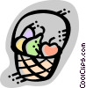 Food Baskets Vector Clip Art image