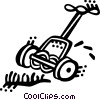 Vector Clipart graphic  of a Lawnmowers