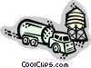 Vector Clipart picture  of a Transport Trucks