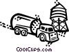 Transport Trucks Vector Clipart graphic