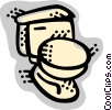 Vector Clipart picture  of a Toilets