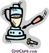 Vector Clip Art image  of a Mixers