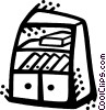 Vector Clipart image  of a Bookshelves