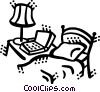 Vector Clip Art graphic  of a Beds