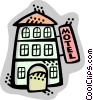 Vector Clipart illustration  of a Hotels and Motels