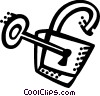 Vector Clip Art image  of a Keys and Locks