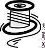 Vector Clip Art picture  of a Spools of Thread