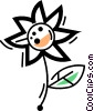 Vector Clip Art graphic  of a Daisies