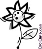 Vector Clipart image  of a Daisies
