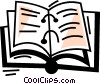 Vector Clip Art graphic  of a 3-Ring Binders