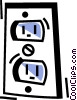 Vector Clipart graphic  of a Outlets and Receptacles