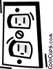 Vector Clip Art image  of a Outlets and Receptacles