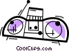 Portable Cassette Players Vector Clipart picture