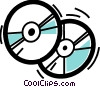CD-ROM Media Vector Clipart illustration
