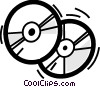 CD-ROM Media Vector Clipart graphic